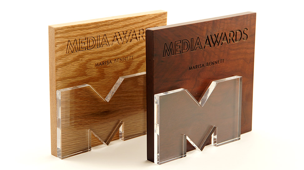 Laser Cut Acrylic and Wood Awards