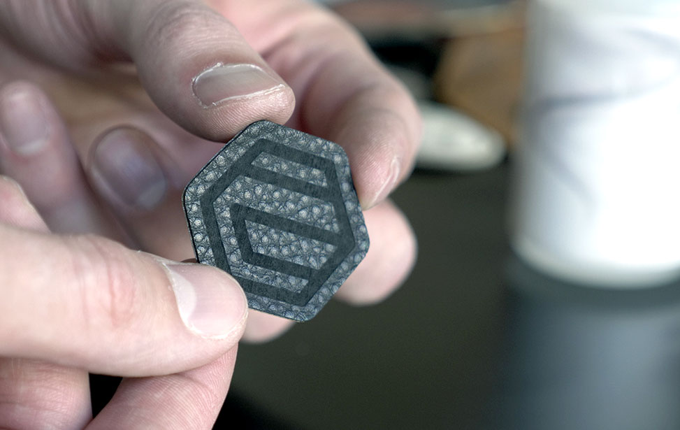 Laser Engraved Adhesive Leather Patch