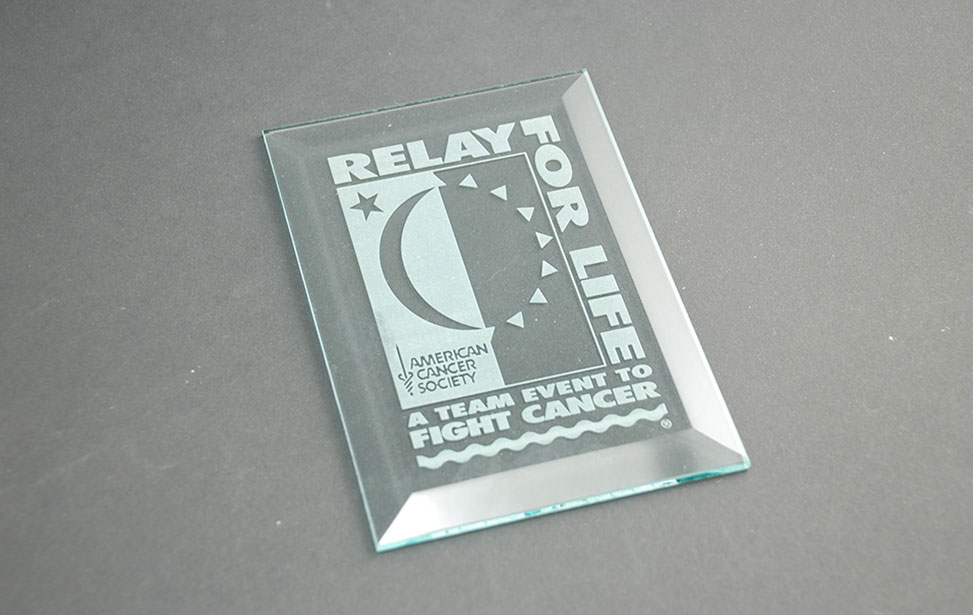 Laser Etched Glass Award