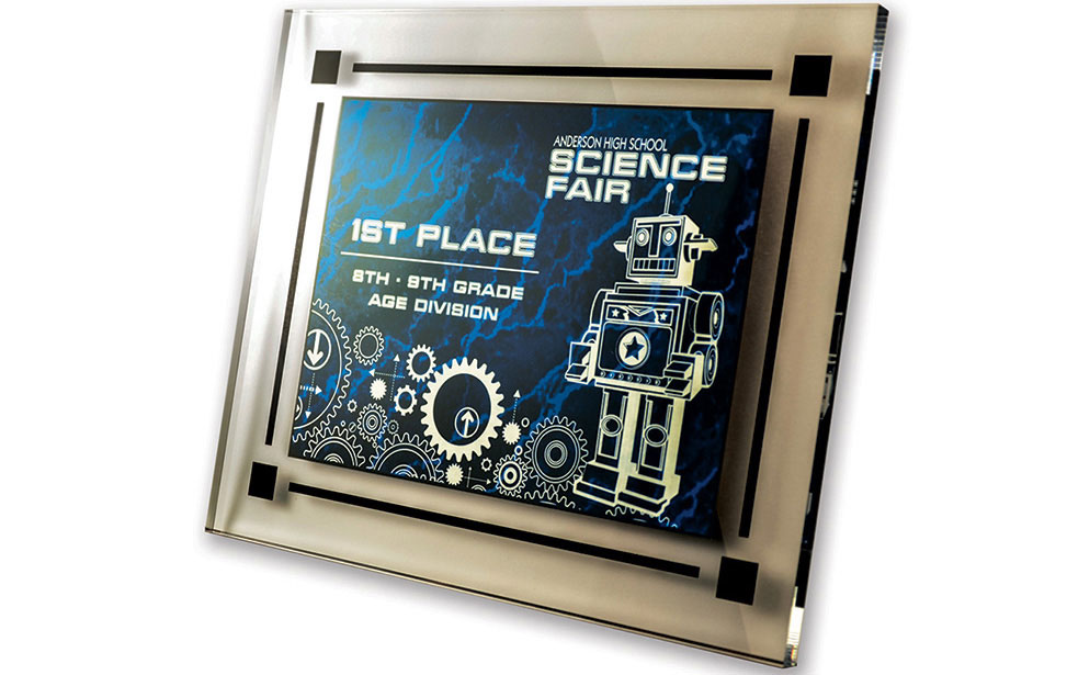 Laser Engraved Science Fair Award