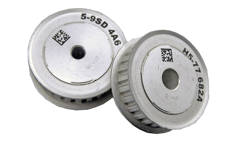 Metal Pulley with Serial Data Matrix