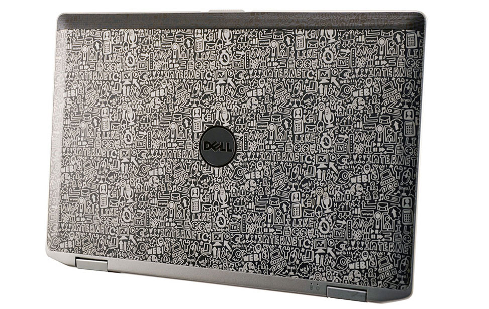 Collage Engraving on Dell Laptop