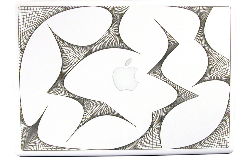 Geometric Shapes Engraved on Macbook