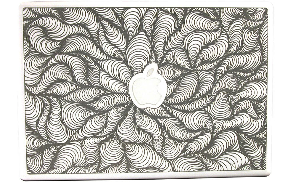 Abstract Graphic on Macbook