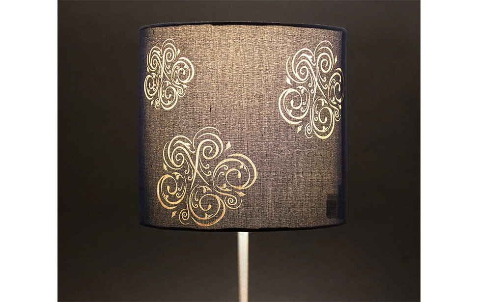 Laser Etched Lamp Shade
