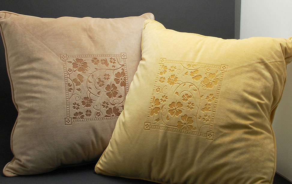 Laser Engraved Florid Pillows