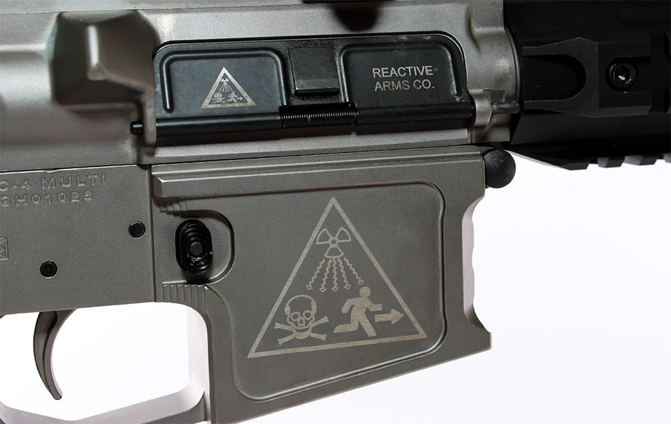 Firearm Marked with an Epilog Fiber Laser