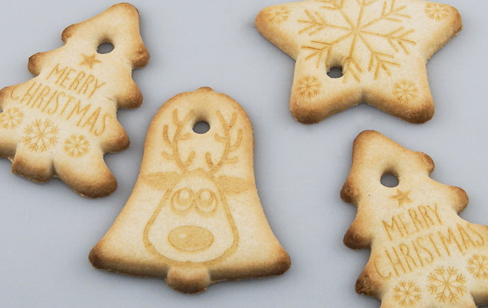 Laser Engraved Christmas Cookies