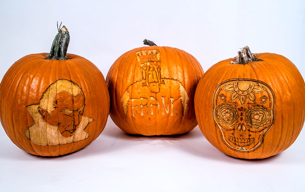Laser Engraved Pumpkins
