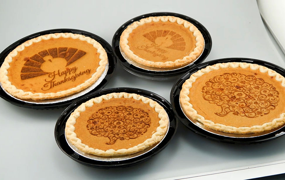 Laser Engraved Thanksgiving Pies