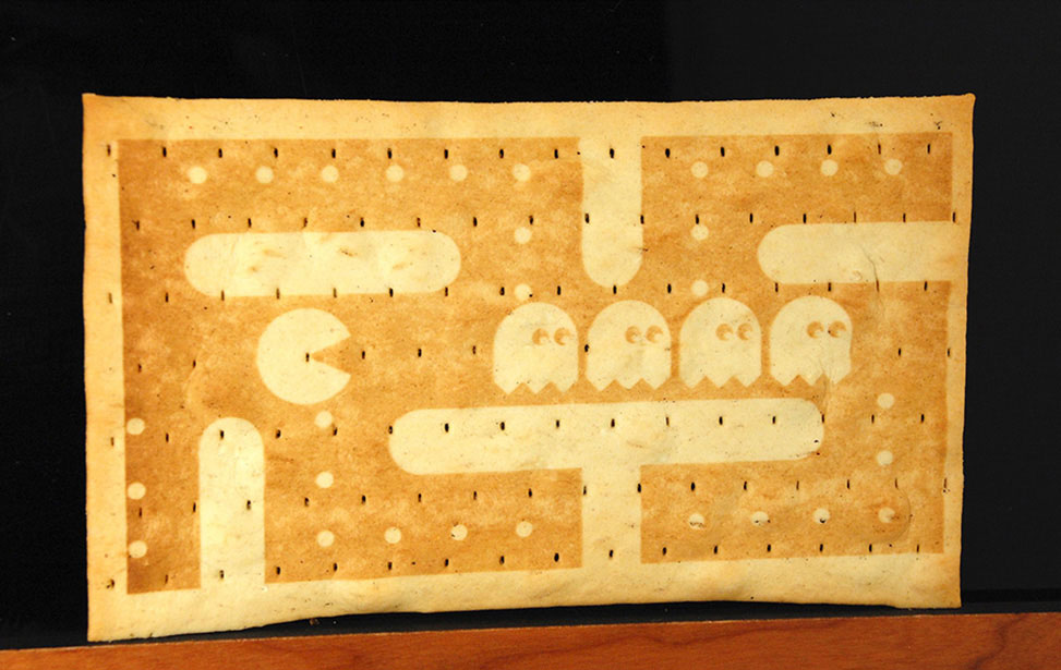 PacMan Crackers Engraved with Laser