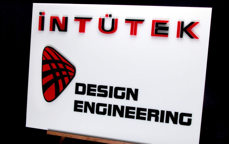 Intutek acrylic signage inlay for indoor signage applications