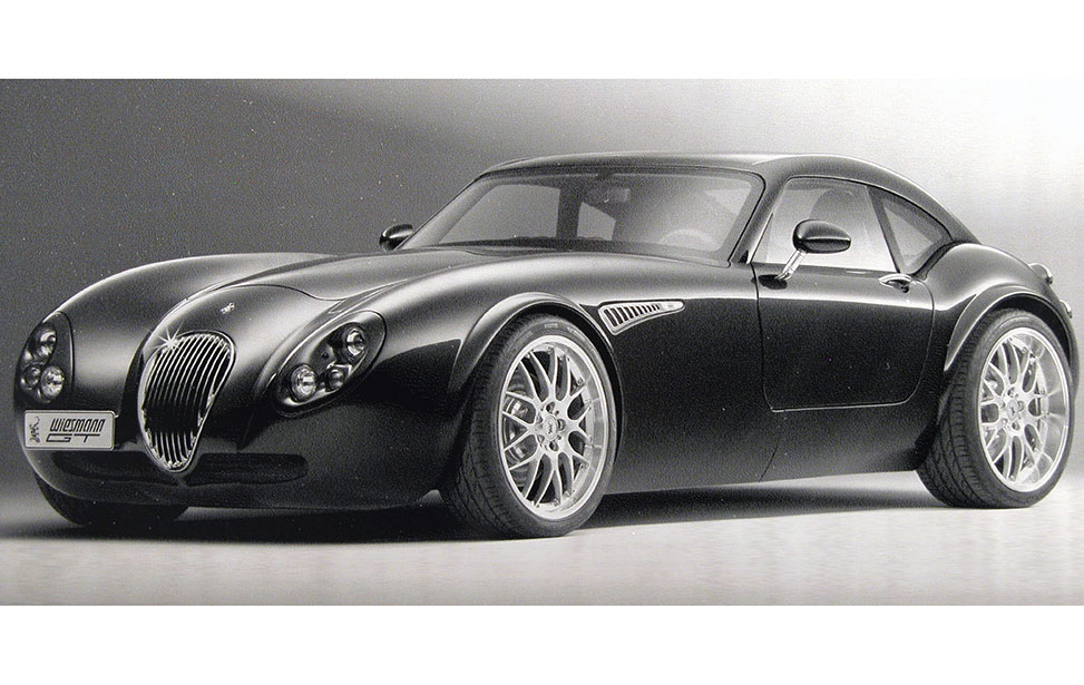 Laser Engraved Anodized Aluminum Photo of a Sports Car