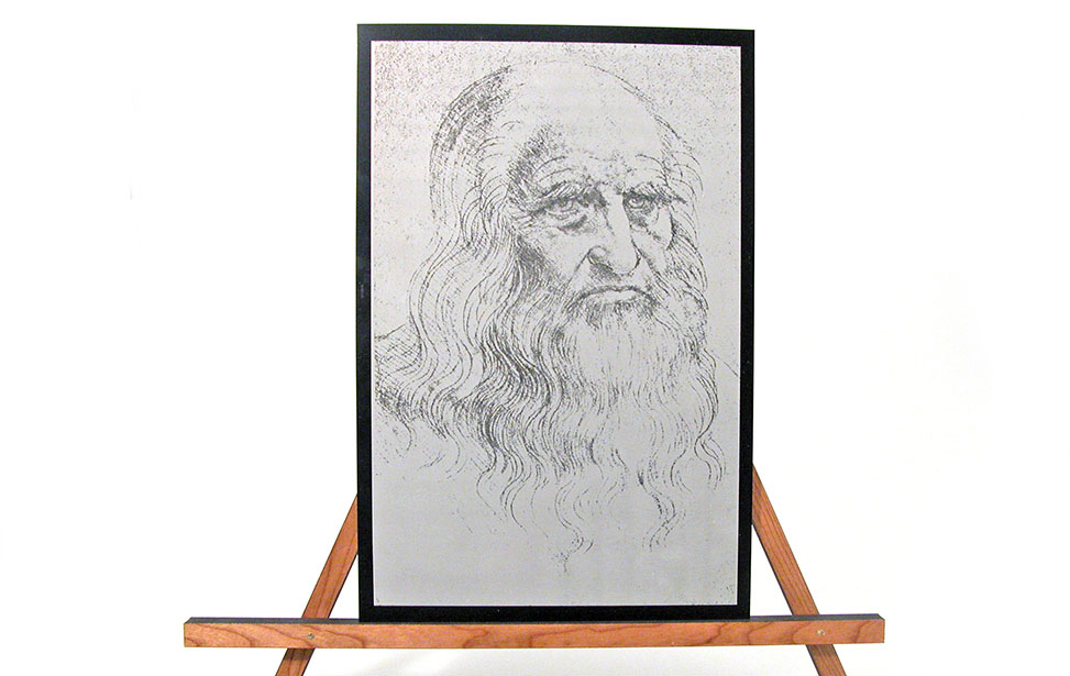 Laser Engraved Photo of a Bearded Man