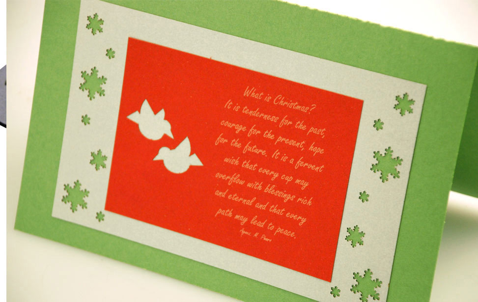 Paper Chirstmas Card Cut and Marked with a Laser