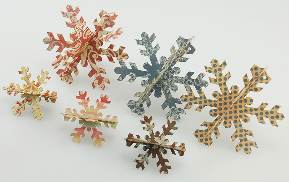 Paper Snow Flakes Cut with Laser