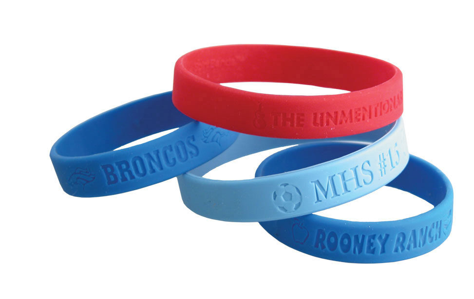 Laser Engraved Silicone Wrist Band