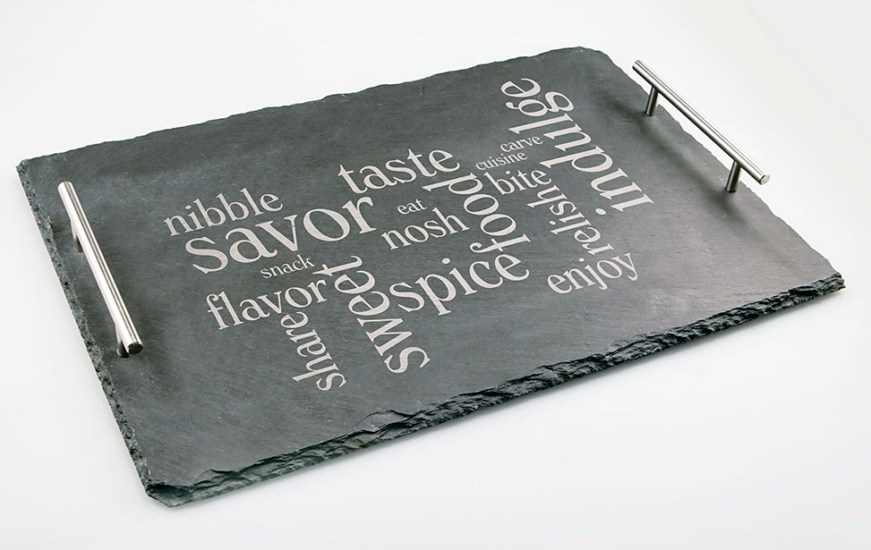 Engraved Slate Cheese Board