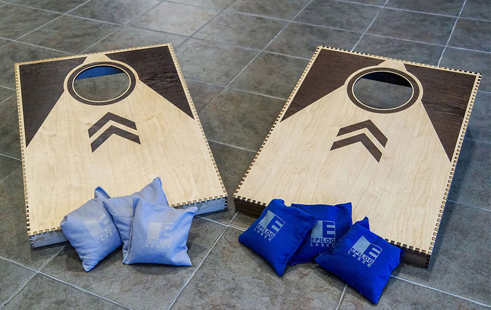 Laser Cut and Inlayed Corn Hole Boards