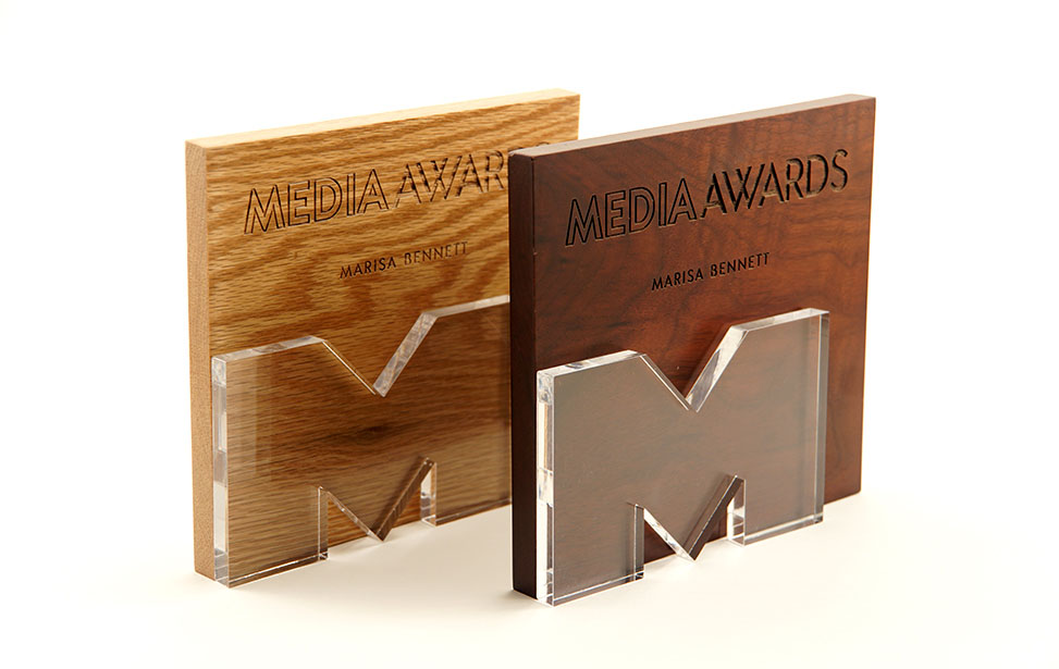 Laser Engraved Wood & Acrylic Awards