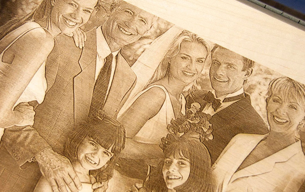 Photo Engraved On Wood
