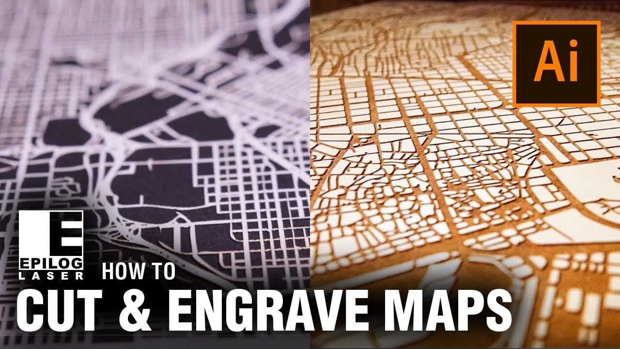 Laser Cutting & Engraving City Maps with Adobe Illustrator