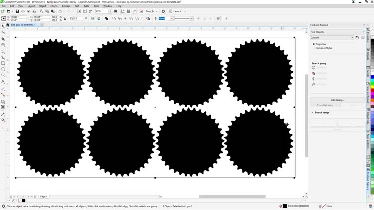 4x2 matrix of chainring parts