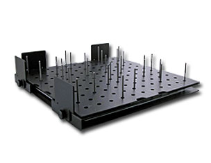 laser cutting pin table anti-backside burning feature