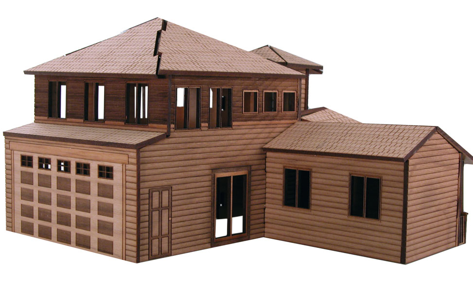 Back of the architectural model