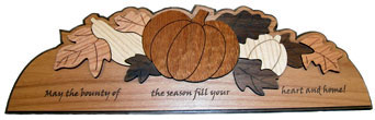 Laser cut autumn decoration.