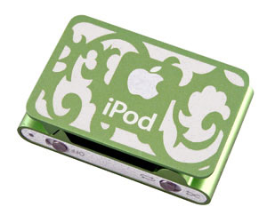 iPod Shuffle engraved with a laser.