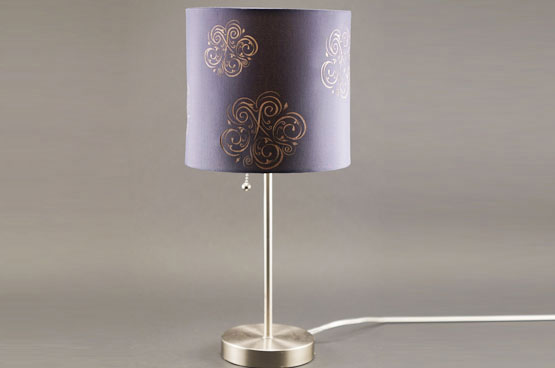 engraving a lamp shade