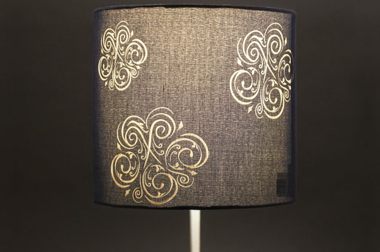 laser engraved lamp lit