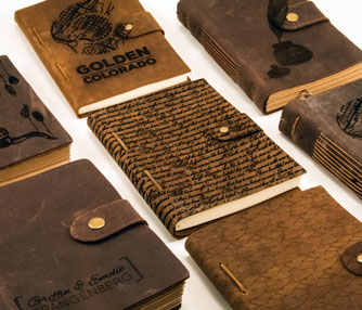 laser engraving leather journals