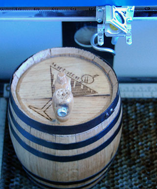 Finished engraving on the small barrel.