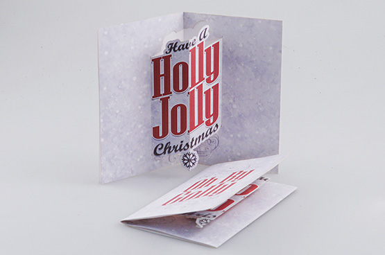 christmas cards die cut with an Epilog Laser