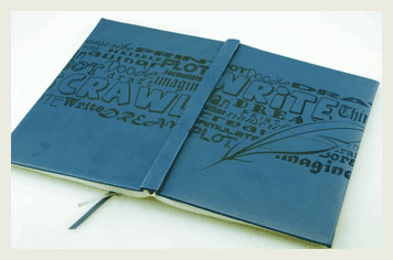 Faux leather journal engraving.