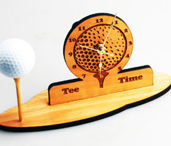 golf clock engraving