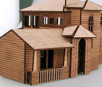 laser cut architectural model