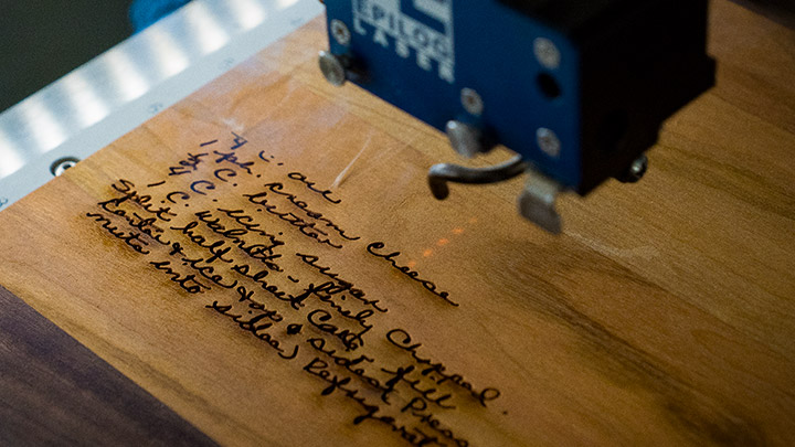 laser engraving cutting boards