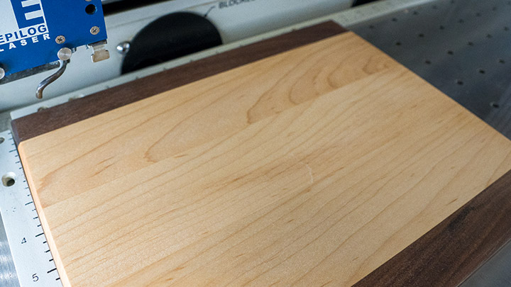 cutting board in laser engraver