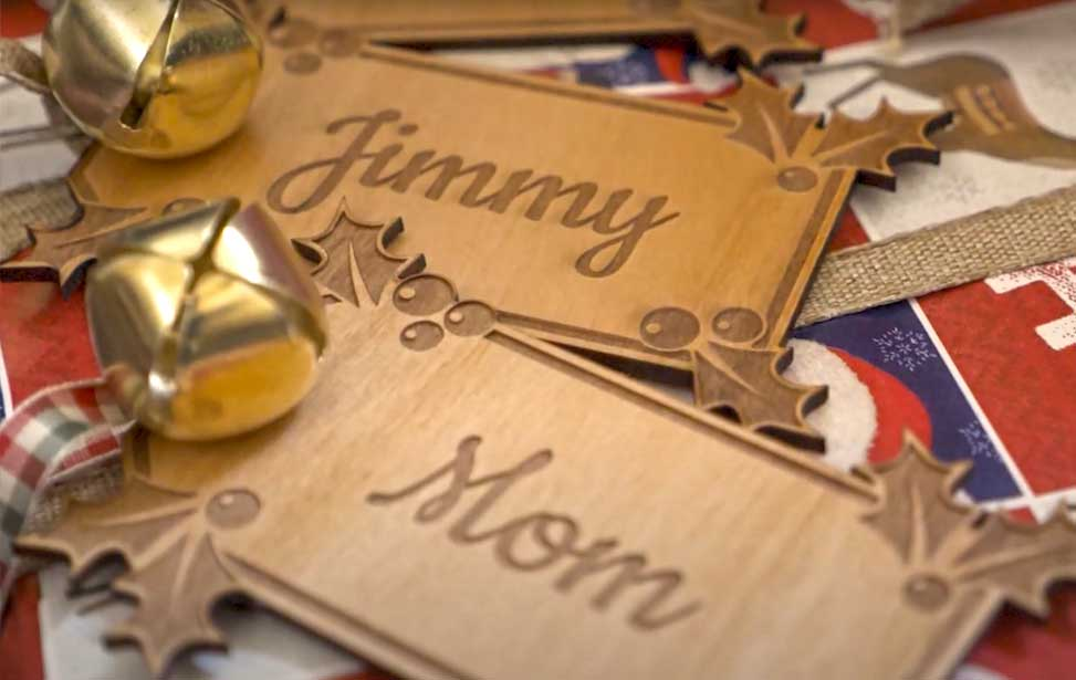 laser cut holiday gift tags