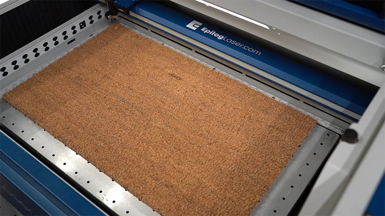 blank coir doormat in upper left corner position