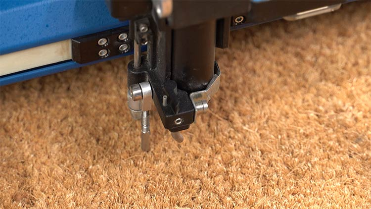 focusing the fusion pro to the coir mat thickness