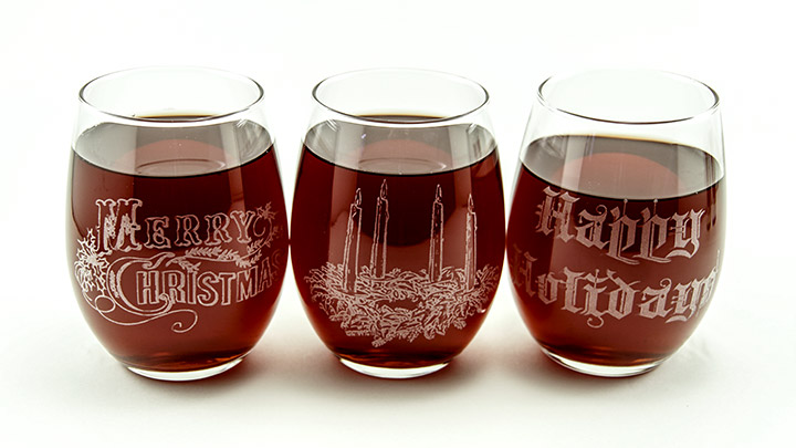 custom laser engraved wine glasses