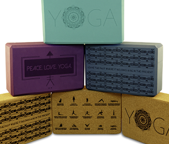 laser engraving foam and cork yoga blocks